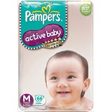 PAMPERS Popok Active Baby Taped
